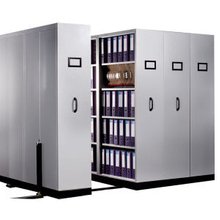 Manual Assist Archive Storage High Density Mobile Shelving