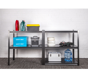 2 Layers Metal Garage Riveted Steel Shelving
