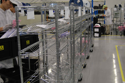 Electronic Industry Use Heavy Duty Chrome Wire Shelving