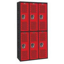 Air Ventilated Athlete Gym Steel Lockable Locker with Shelves