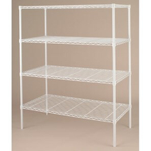 "Home 18"" X 48"" Epoxy Powder Coated White Wire Shelving"