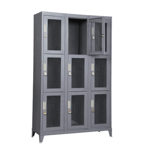 Sturdy Welded Ventilated Metal Lockers For Gym, School and Military